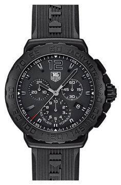 TAG Heuer 'Formula 1' Chronograph Rubber Strap Watch available at #Nordstrom