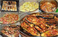 Μελιτζάνες με ξινομυζήθρα (ή φέτα) - cretangastronomy.gr Ratatouille, Tandoori Chicken, Zucchini, Meat, Vegetables, Ethnic Recipes, Food, Essen, Vegetable Recipes