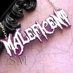 Maleficent - ruby glitter, acrylic necklace, villains, movie
