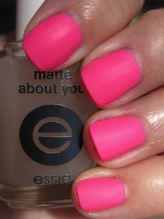 Essie clear matte nail polish