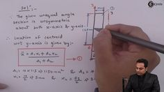 Learn Online   Problem on Calculation of M.I of given Unequal angle sect...