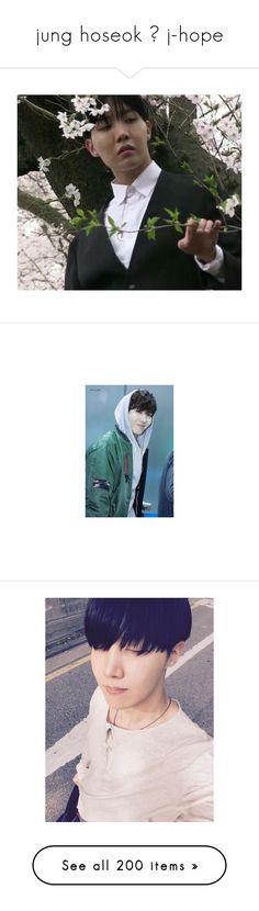 """jung hoseok ➟ j-hope"" by seungvie ❤ liked on Polyvore featuring hoseok, bts, jhope, kpop, hobi, bts - jhope, people, bangtan, tops and blue top"