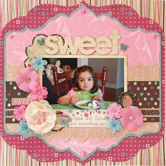 Sweet - Scrapbook.com - #scrapbooking #layouts #bobunnypress #marthastewartcrafts