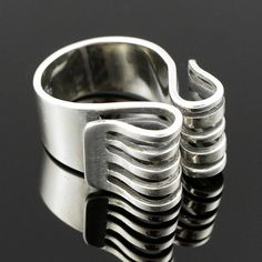 ANNA GRETA EKER Sterling-Ring, PLUS NORWAY, 60s (Silber, 925 Norwegen +)