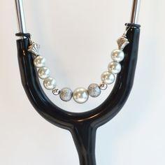 Women's Beaded Stethoscope ID Pendant Charm Jewelry by DungleBees