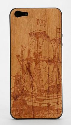 Carved Wood iPhone 5 Back-Skin #urbanoutfitters