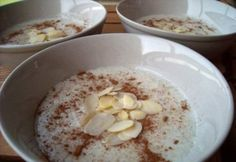 Fahéjas sült  almás tejbezab Delish, Oatmeal, Breakfast, Food, The Oatmeal, Morning Coffee, Rolled Oats, Essen, Meals