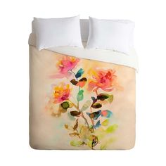Add vintage charm to your bedroom or a guest suite with this beautiful Watery Garden Duvet Cover. Bold spills of color with watery borders create a garden scene over the white background of this lightw...  Find the Watery Garden Duvet Cover, as seen in the Bedroom Refresh Sale: Bedding Collection at http://dotandbo.com/collections/january-bedding-sale-bedding?utm_source=pinterest&utm_medium=organic&db_sku=100686