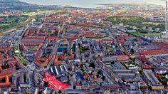 El parque más extraño de toda Europa.  El parque Superkilen se encuentra en el vecindario de Norrebro en Copenhague, Dinamarca.