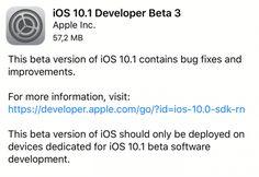 Apple rilascia iOS 10.1 beta 3!