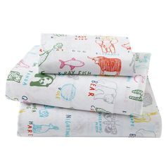 Field Guide Sheet Set (Twin) - they can both use these sheets! good for a boy or a girl.