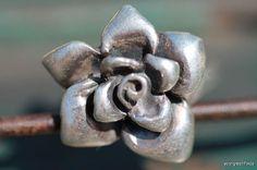 Vintage Solid 925 Sterling Silver Rose or Gardenia Flower Ring