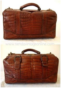 Vintage Crocodile Suitcase | ... doctor antiguo de piel cocodrilo. Maletines de doctor médico vintage