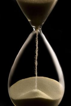 Hourglass, also called hour glass, sandglass, sand timer, sand clock, and even... egg timer when used to control the time to boil eggs.