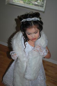 little girl going outside