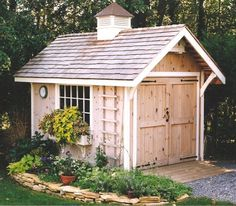 DIY Shed Project - Outdoor Garden Shed Plans and Preparation - John Britton Shed Storage, Built In Storage, Large Wooden Sheds, Shed Conversion Ideas, Home And Garden Store, Small Sheds, Diy Shed Plans, Wood Shed, She Sheds