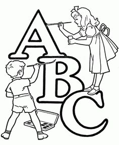 45 Best Coloring Pages Images Coloring Pages Abc Alphabet