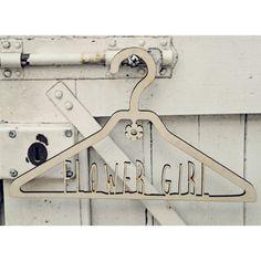 Perfect keepsake - Laser cut Flower Girl Dress Hanger - £12