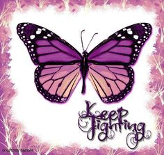 keep fighting butterfly