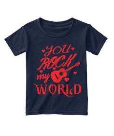 Discover You Are Rock My World T-Shirt, a custom product made just for you by Teespring. With world-class production and customer support, your satisfaction is guaranteed. Twitch Hoodie, Love T Shirt, Order Prints, My World, Valentine Gifts, Anniversary Gifts, Just For You, Rock, Navy