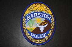 Barstow Police Patch, San Bernardino County, California