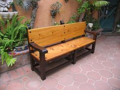 Handmade Santa Barbara Bench by Del Cover Woodworking | CustomMade.com