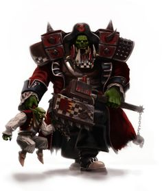 Ork Freebooter with pet Grot by Colrouphobia