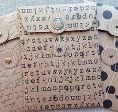 Handmade Coin Envelopes/Junk Journal/Gift Card Holder