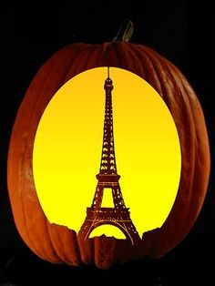 Eiffel Tower Pumpkin