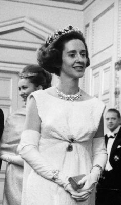 Queen Fabiola (with then Princess Paola behind her), circa 1960s