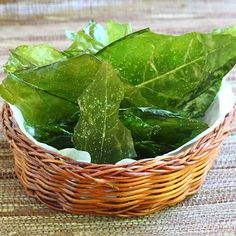 Dandelion Chips w/ Sea Salt   Kale Chips have been king long enough.  Actually, I love Kale Chips and I've watched so many friends and kids ...