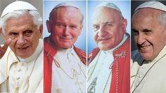Mañana, el domingo de los 4 Papas: canonización de #JuanXXII y #JPII. Y juntos en misa #Francisco y #BenedictoXVI