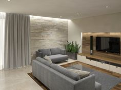 betonowa ściana pod tv - Szukaj w Google