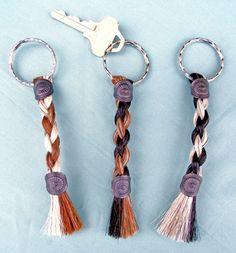 horse hair key chain