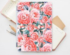 Ipad Cover Roses iPad Pro 12.9 Smart Cover Floral Personalized Smart Cover Ipad 2 Case Flowers Air Ipad Cover Mini 4 Smart Cover PP4019