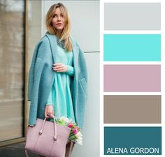 Blues + lilac + light grey fashion guide - colours in 2019 γυναικεία μόδα, Colour Combinations Fashion, Colour Blocking Fashion, Color Combinations For Clothes, Fashion Colours, Colorful Fashion, Color Combos, Color Schemes, Color Balance, Color Harmony