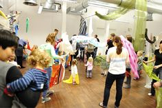 Fabrics Land, one of many workshops for children and their parents led by Warsztaty Agaty. #workshop #fabrics