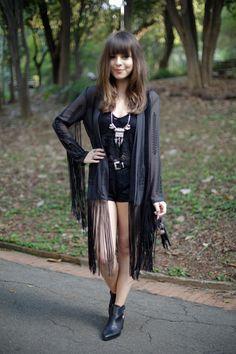 Kimono all black look!