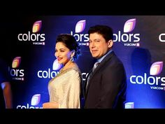 Madhuri Dixit with Dr. Nene at IAA Leadership Awards 2016 red carpet.