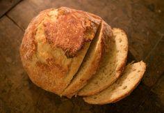 Easy no-knead-bread recipe in Finnish via Tiskivuoren emäntä
