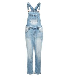 Trust us, you'll be in these Blue Bleached Denim Cigarette Dungarees from winter to summer. Blue Jumpsuits, Playsuits, Jumpsuits For Women, Black Playsuit, Black Jumpsuit, New Look Trends, New Look Fashion, Jumpsuit Dressy, Bleached Denim