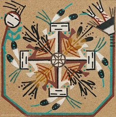 """Anartwork based on Navajosand painting. We purchase this at a roadside stand somewhere between the south and north rims of the Grand Canyonin 1994.I say """"based on"""" because a real s…"""