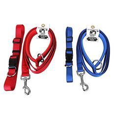 Dog Leash with Padded Handle  Sturdy Safe and Extra Comfortable  comes with free matching collar 6_feet *** You can find out more details at the link of the image.Note:It is affiliate link to Amazon.