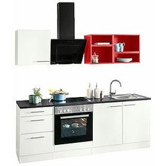 OPTIFIT Küchenzeile »Mini« Kitchen Cabinets, Kitchen Appliances, Kitchen Furniture, Double Vanity, Sweet Home, Modern, Mini, Home Decor, Products