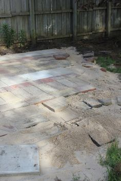 The 1326 Project: How To: Reclaimed Brick Patio