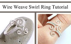 Jewelry Video Tutorial: Adjustable Swirl Wire Wrapped Ring by Jocelyn D. on youtube.com