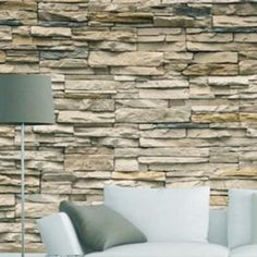 BudMcbai Modern Brick Stone Wallpaper Bedroom Mural Roll Wall Background Vintage GW How To Choose Brick Wallpaper Background, 3d Stone Wallpaper, Faux Brick Wallpaper, 3d Wallpaper Living Room, Living Room Murals, Bedroom Murals, Background Vintage, Photo Wallpaper, Wall Wallpaper