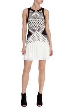 c1c873e808 Drop waist beaded mini dress Hourglass Shape, Effortless Chic, Karen Millen,  Drop Waist