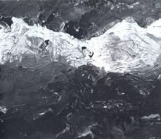 Alpen  Alps  1970  53 cm x 62 cm  Oil on canvas