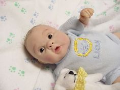 Sharon Ullrich uploaded this image to 'Jensbabyboy'. See the album on Photobucket. Polymer Clay Painting, Polymer Clay Dolls, Silicone Reborn Babies, Reborn Baby Dolls, Lifelike Dolls, Clay Fairies, Baby Ornaments, Baby Fairy, Clay Baby